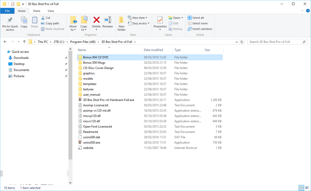 Image of the Windows Explorer on Windows 10 open in the program files directory.