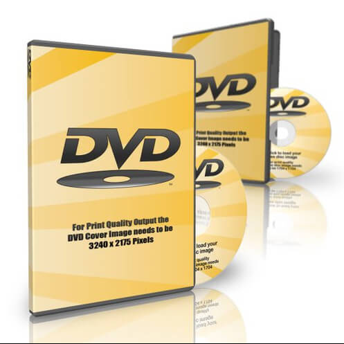 Image showing 2 x DVD cases with the one at the back slightly out of focus in order the create the illusion of depth of field.