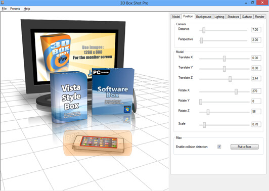 ScreenShot showing the clicker picker selection method of picking a 3d model in the program.