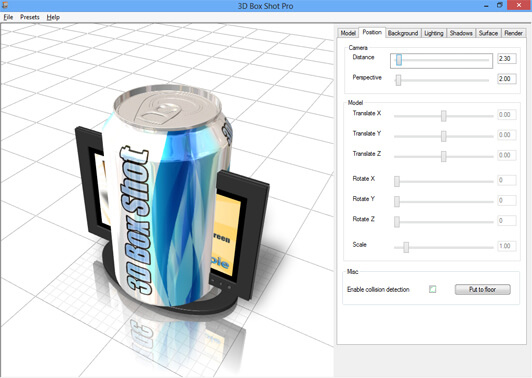 Screenshot image showing overlapping models in 3D Box Shot Pro