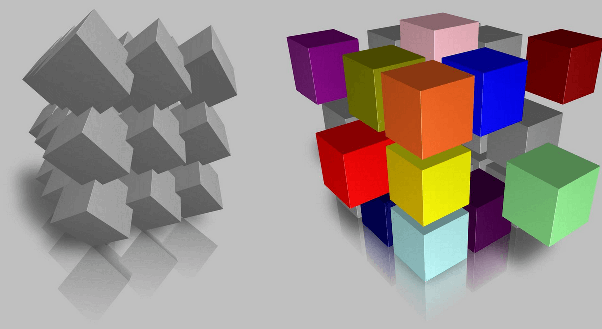 Cube Stacks in 3D Box Shot Pro